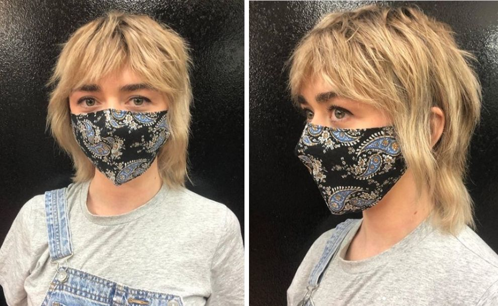 Maisie Williams Game of Thrones Mullet celebrity haircuts