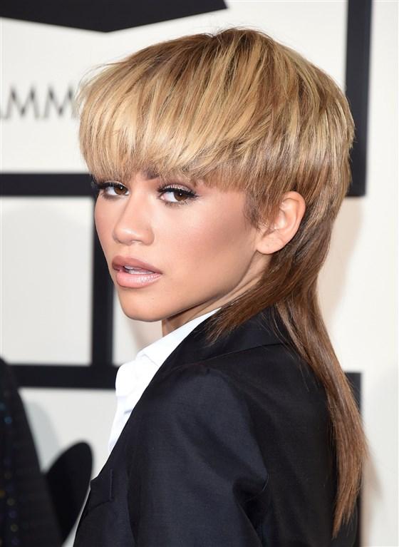 Zendaya Euphoria Mullet celebrity haircuts